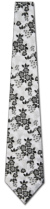 201203002: Black and White Floral - Fancy Woven