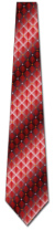 2015022013: Red and Silver Diamonds Woven Tie