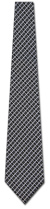 2015022014: Black and Silver Woven Checks Tie