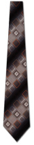 201502202: Gray and Brown Diamonds Woven Tie