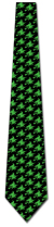 501394: Witch Silhouette Repeat - Neon Green on Black