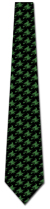 501396: Witch Silhouette Repeat - Green on Black