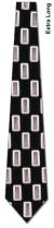 DM100-35: Rectangles Repeat- Black (Extra Long)