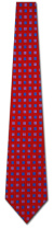 KA-9000011: Fancy Woven -Red with Purple and Navy Squares