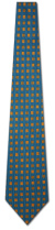 KA-9000013: Fancy Woven - Teal with Gold Squares