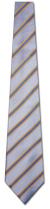 KA-9000014: Fancy Woven - Sky Blue and Yellow Stripe