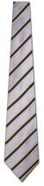 KA-9000015: Fancy Woven - Silver, Yellow and Navy Stripe