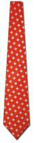 KA-9000017: Woven Silk - Red with White Diamonds